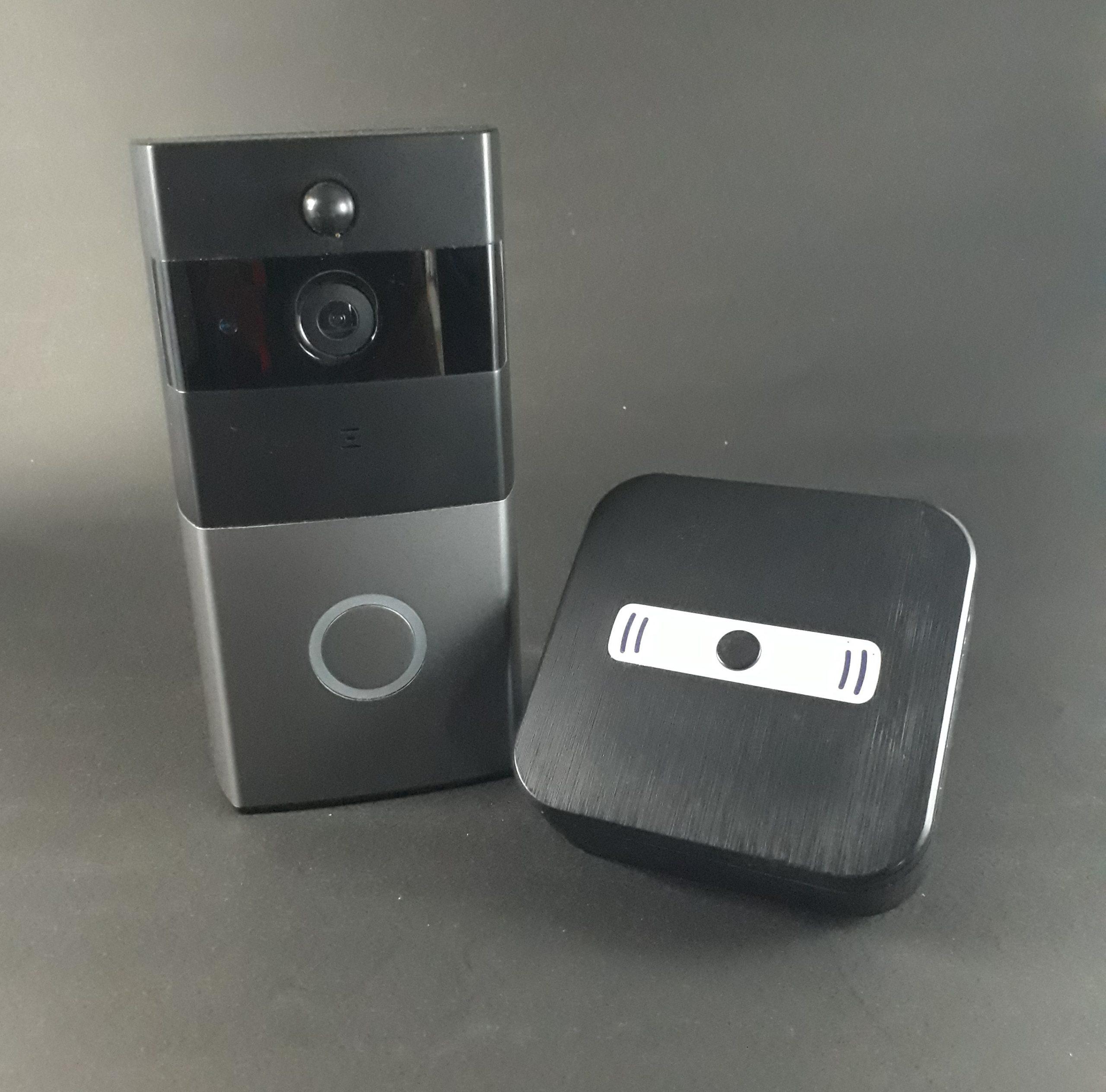 con La Visi/ón Nocturna Timbre Video WiFi De La C/ámara De Infrarrojos A Distancia Seguridad Timbre Monitoreo ZYJ Inteligente WiFi Timbre Video Portero