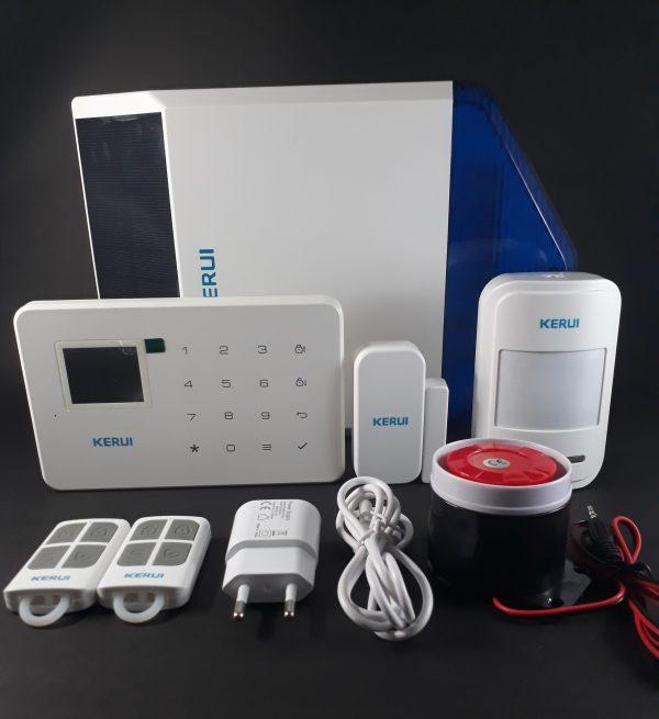 Alarma GSM G18 Y sirena solar