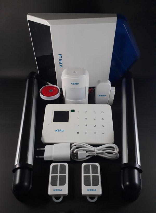 Alarma GSM, sirena solar y barras perimetrales exteriores